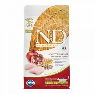 Farmina N&d Low Grain Neutered Pollo e Melograno 5 kg Per Gatti Sterilizzati